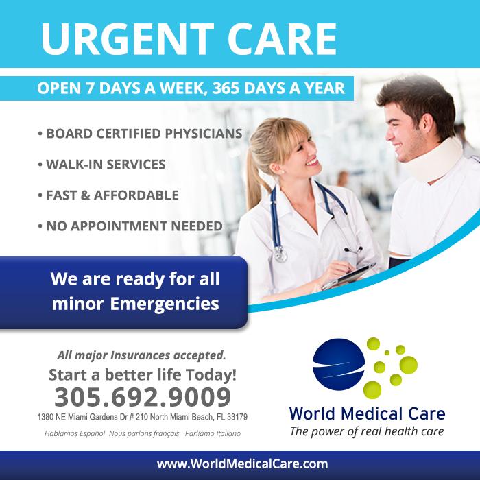 Urgent care North Miami Beach 33179